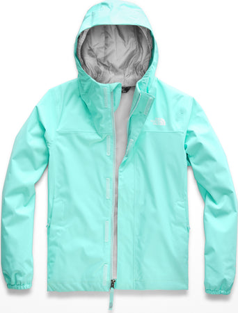 0054025421f lazy-loading-gif The North Face Resolve Reflective Jacket - Girls Mint Blue