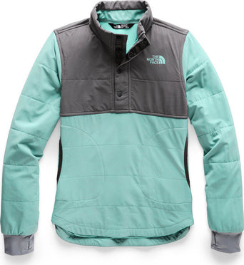 0bace80e330f lazy-loading-gif The North Face Mountain Sweatshirt 1 4 Snap - Girls Mint  Blue