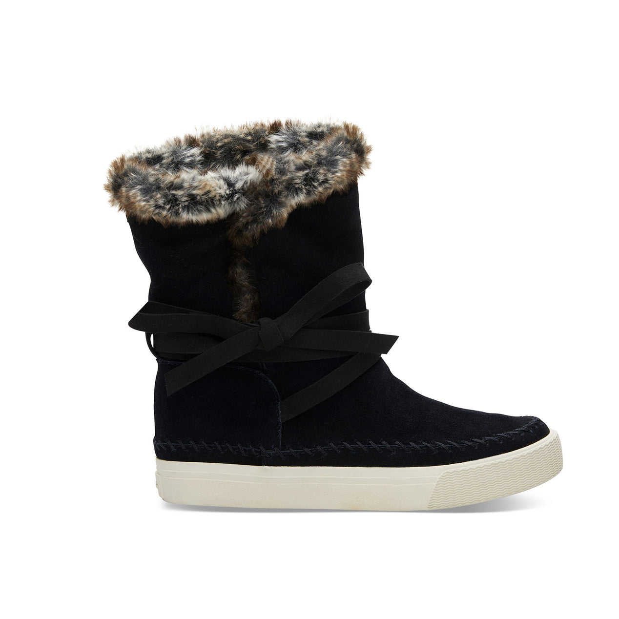 36c3866d02d TOMS Women's Vista Waterproof Suede Faux Fur Boots