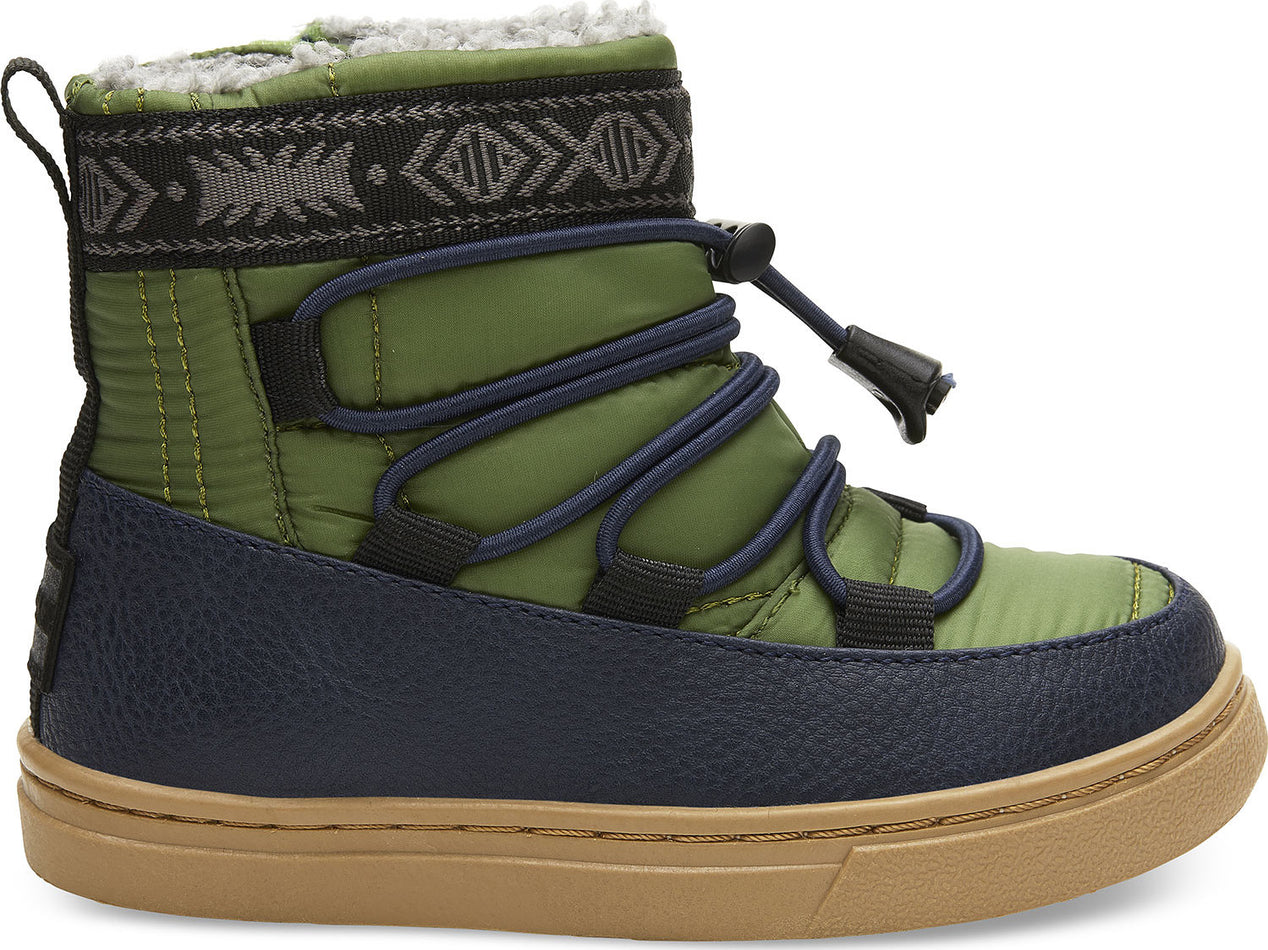 104ec87112f TOMS Toddler s Light Pine Quilted and Synthetic Leather Water-Resistant  Tiny Alpine Boots
