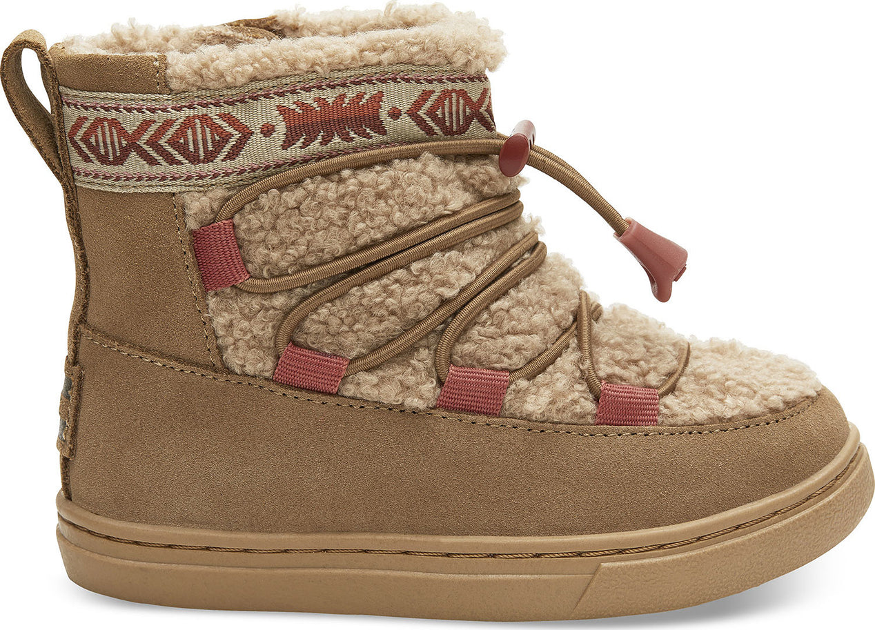b7fdc5f3987 Toms Toddler s Toffee Suede And Faux Shearling Tiny Alpine Boots ...