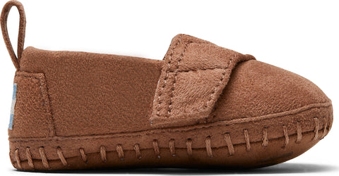 TOMS Toffee Microsuede Tiny Crib Slippers - Toddler
