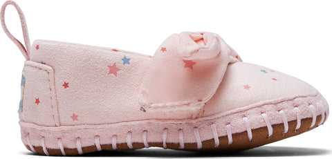 TOMS Ballet Prink Star Print Microsuede Tiny Crib Shoes  - Toddler