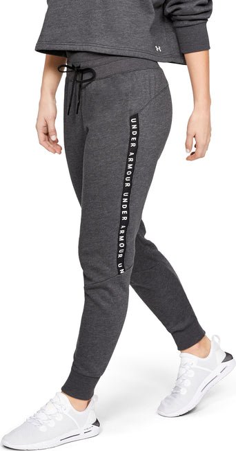 a550ef3bab8c lazy-loading-gif Under Armour UA Taped Fleece Jogger - Women s Black - White