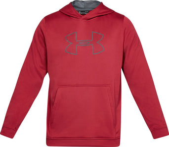 5ccdc4f7ede0 lazy-loading-gif Under Armour UA Big Logo Pullover Hoody - Men s Aruba Red  - Pitch Gray