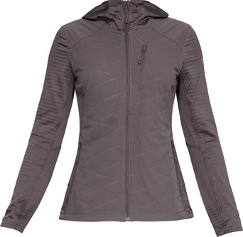 634f6fe7e73b7 lazy-loading-gif Under Armour ColdGear Reactor Exert Full Zip Hoody - Women s  Ash Taupe - Tetra Gray