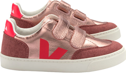 Veja V-12 Leather Shoes - Big Kids