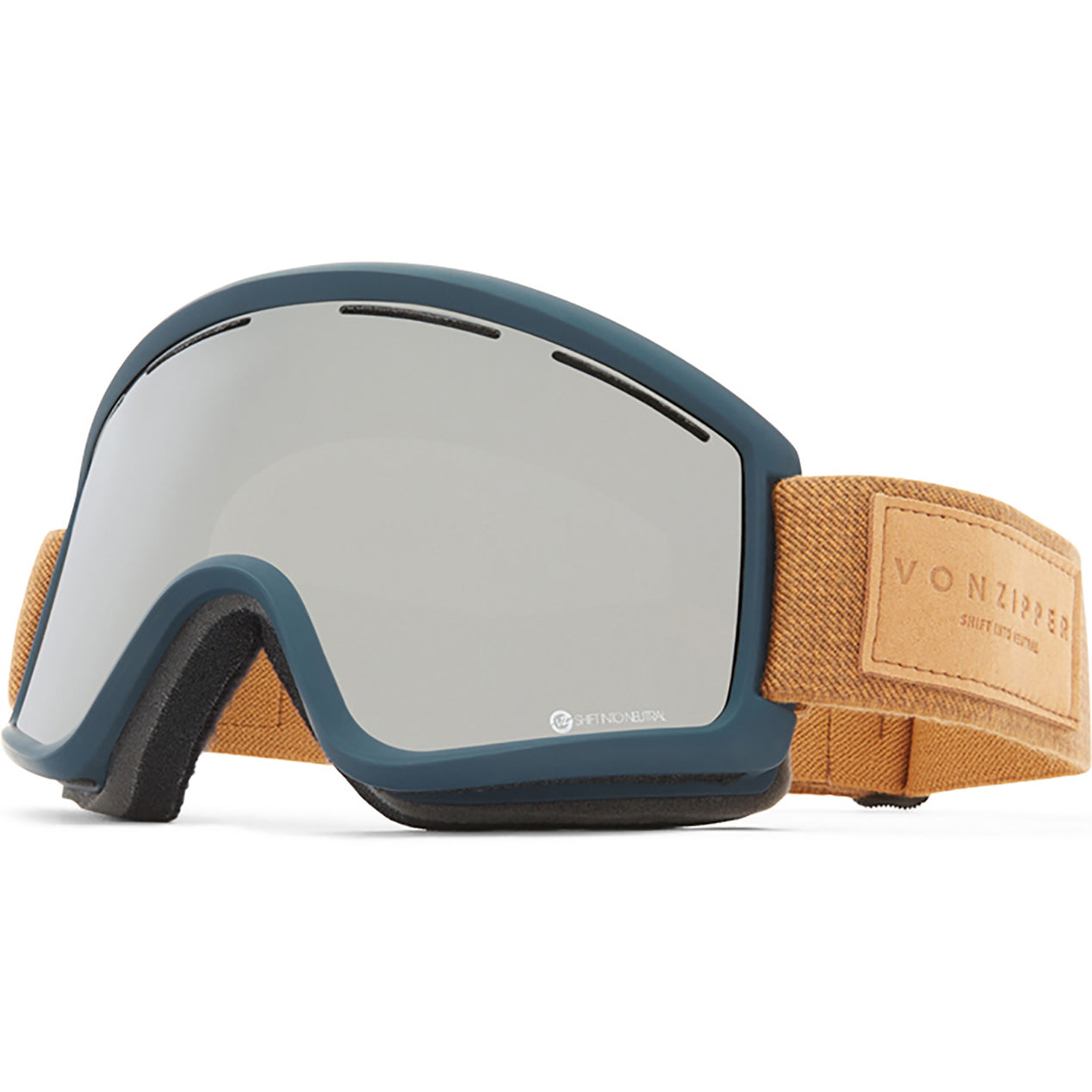 b741f8efd50 VonZipper Cleaver - S.I.N Navy Satin - Wildlife Silver Chrome Wildlife  Yellow Lens Goggle