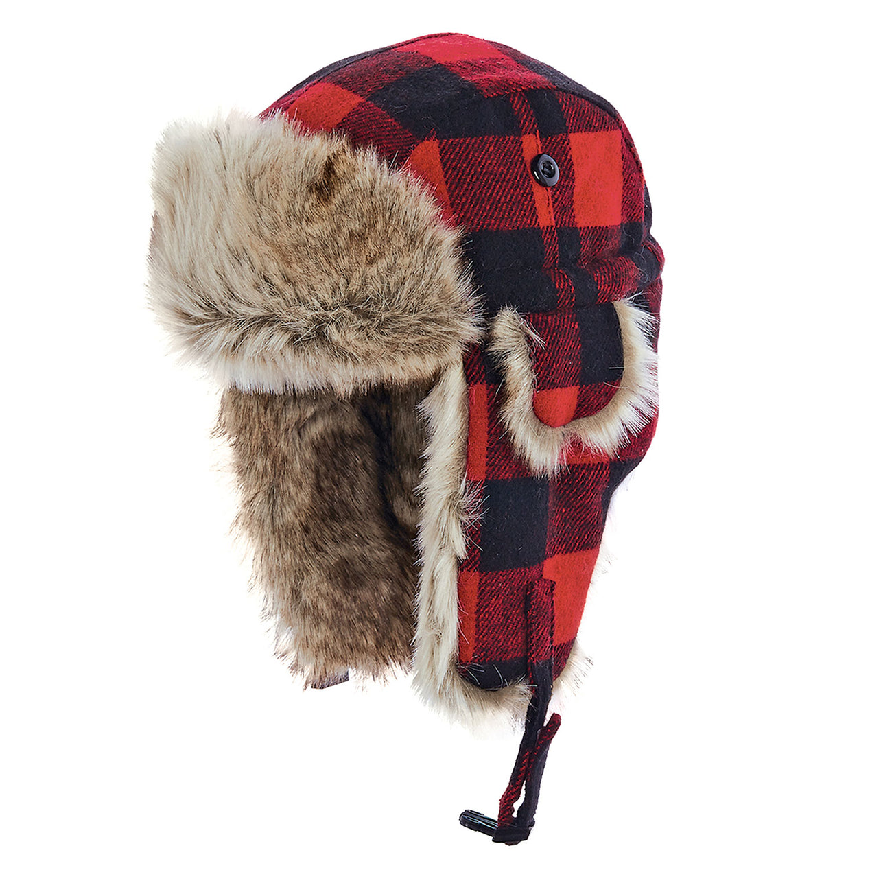 d9e3c06ad23 Woolrich Women s Wool Blend Buffalo Check Trapper Hat