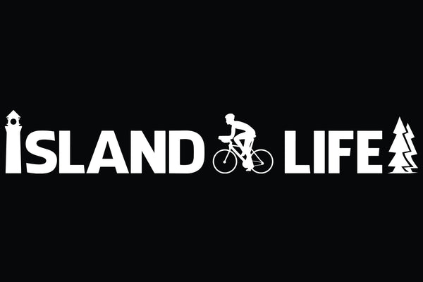 "11"" Die Cut Island Life Cycling Decal - Free Shipping"