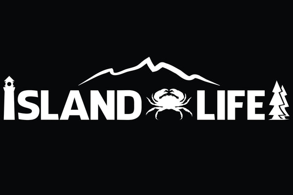"11"" Die Cut Island Life Crabbing Decal - Free Shipping"