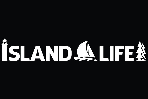 "11"" Die Cut Island Life Sailing Decal - Free Shipping"