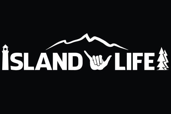 "11"" Die Cut Island Life Shaka/Hang Loose Decal - Free Shipping"