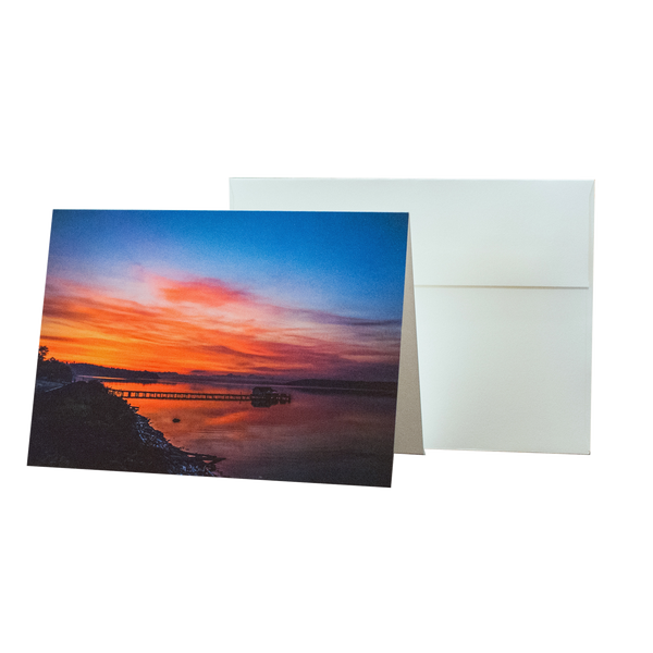 Sunrise On Penn Cove - 5 x 7 Notecard w/ Envelope - Free Shipping