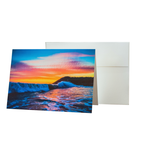 Rip Curl On Ebeys Landing - 5 x 7 Notecard w/ Envelope - Free Shipping
