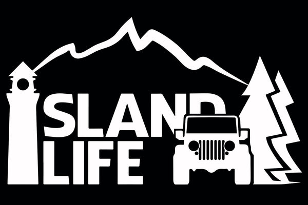 "6"" Die Cut Island Life 4x4 Decal - Free Shipping"