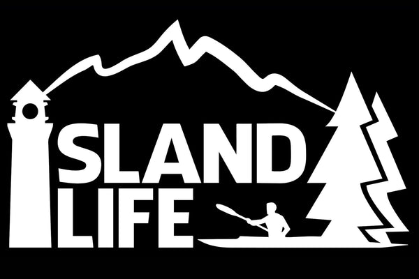"6"" Die Cut Island Life Kayaking Decal - Free Shipping"