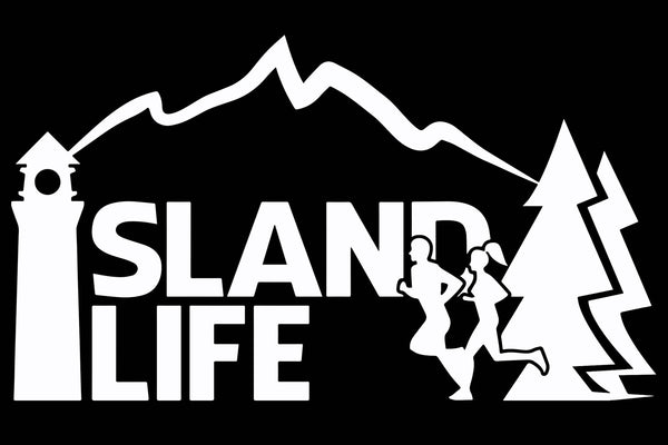 "6"" Die Cut Island Life Running Decal - Free Shipping"