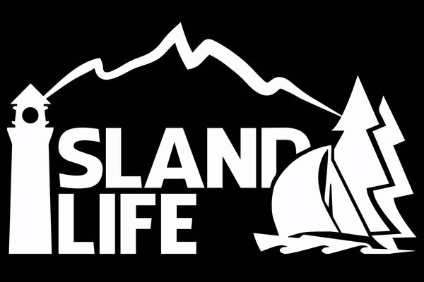 "6"" Die Cut Island Life Sailing Decal - Free Shipping"