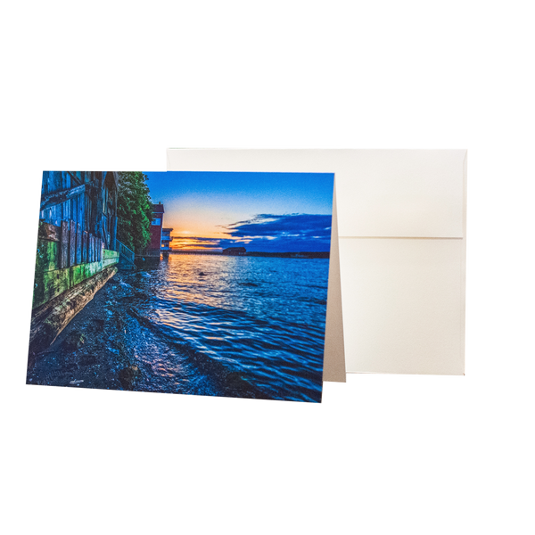 The Sun Sets On Penn Cove 5 x 7 Notecard w/ Envelope - FREE SHIPPING
