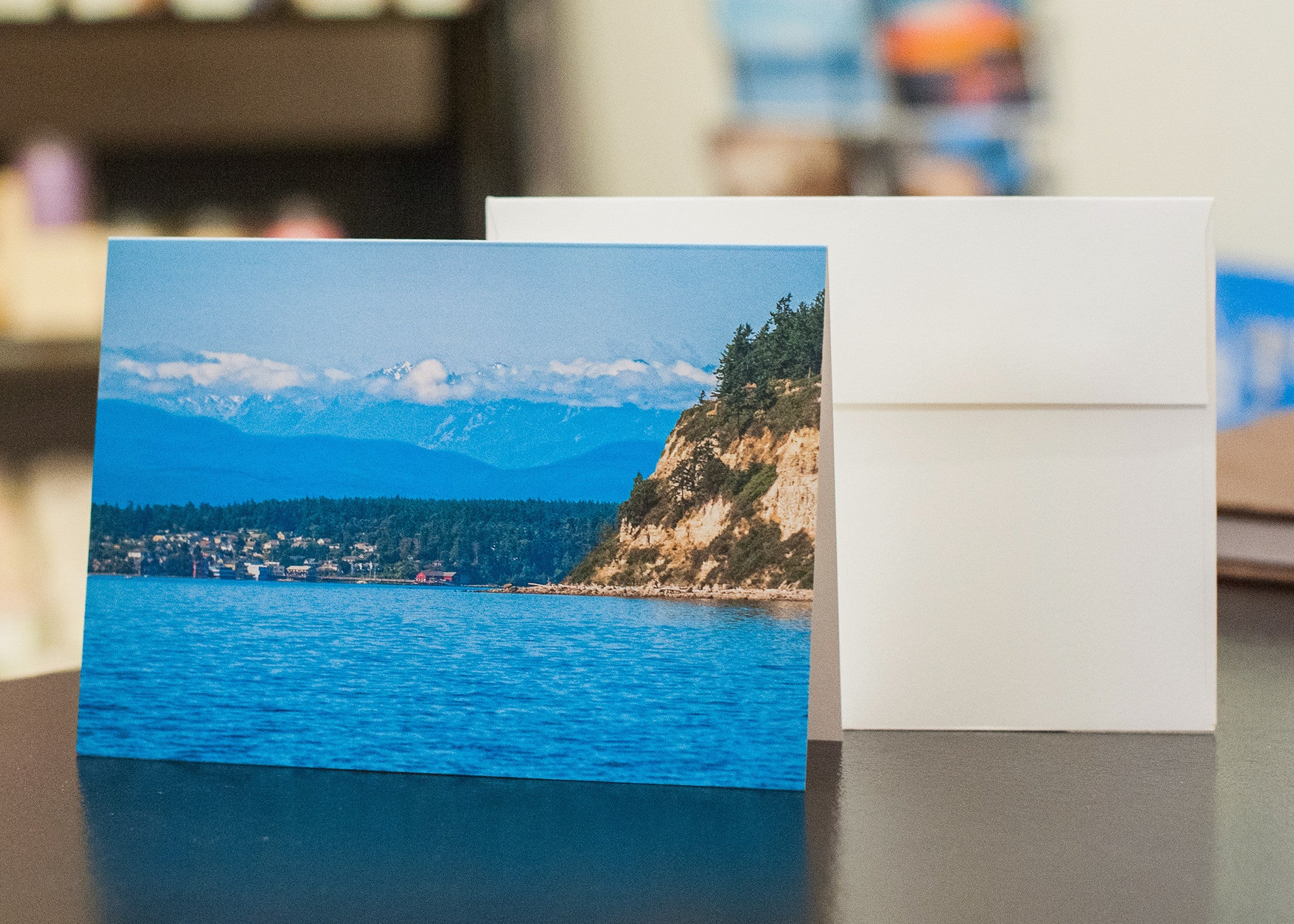 The Olympic Mountains and Coupeville - 5 x 7 Notecard w/ Envelope - Free Shipping