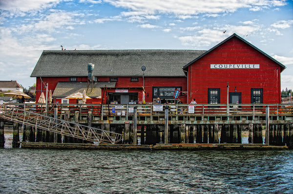 "Historic 1905 Coupeville Wharf - 32"" x 48"" x 1.25"" Canvas Print - Free Shipping"
