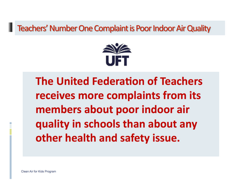 Teachers Top Complaint is Poor Indoor Air Quality
