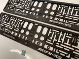 Mercedes AMG Number Plate Surround Frames Pair