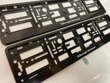 Vw Volkswagen Motorsport Number Plate Surround Frames Pair