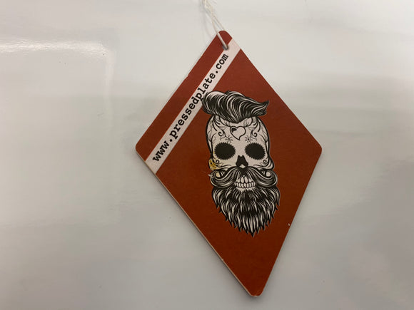Skull Beard Head Air Freshener