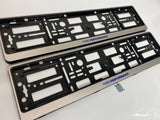 Ford Performance Blue Silver Number Plate Surround Frames Pair