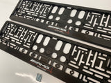 Mercedes AMG Driving Academy Number Plate Surround Frames Pair