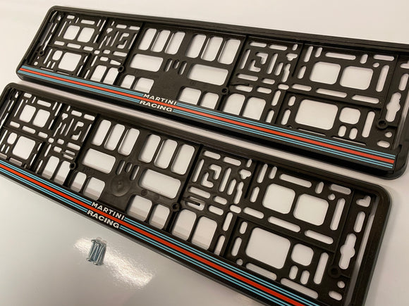 Martini Racing Number Plate Surround Frames Pair
