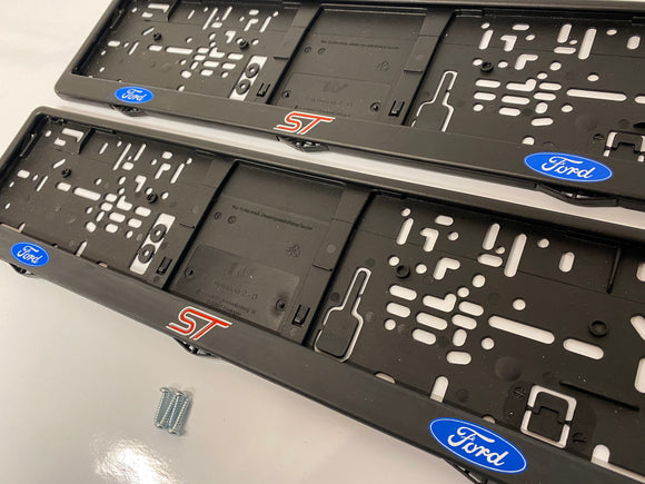 Ford ST Number Plate Surround Frames Pair