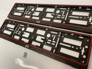 Vw Volkswagen GTI Number Plate Surround Frames Pair