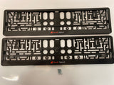 Audi Sport Black Number Plate Surround Frames Pair