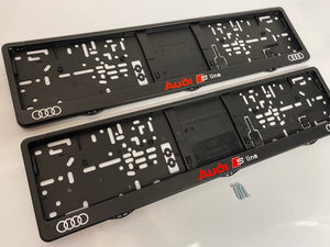 Audi S-Line Number Plate Surround Frames Pair
