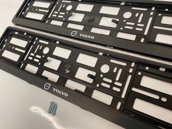 Volvo Number Plate Surround Frames Pair
