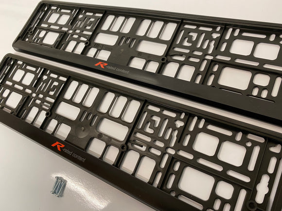 Honda Type R Rated Number Plate Surround Frames Pair