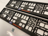 Ford Racing Number Plate Surround Frames Pair