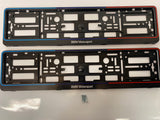 BMW Motorsport Number Plate Surround Frames Pair