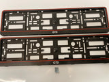 Vw Volkswagen GTD Number Plate Surround Frames Pair