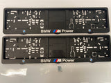 BMW M-Power Number Plate Surround Frames Pair