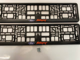 Ford Motorsport Number Plate Surround Frames Pair