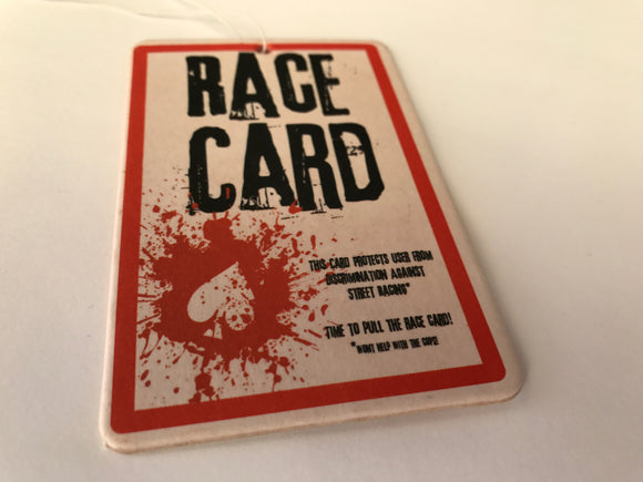 Race Card Obscene Air Freshener