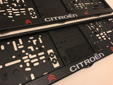 Citroen Number Plate Surround Frame Holders