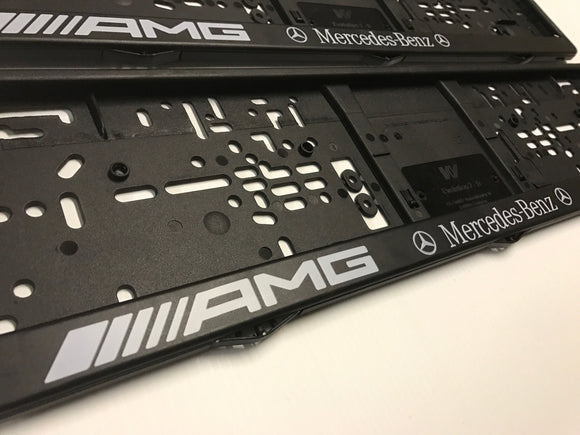 MERCEDES BENZ AMG Number Plate Surround Frame Holders
