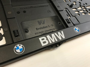 BMW Number Plate Surround Frame Holders