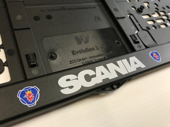 SCANIA Number Plate Surround Frame Holders