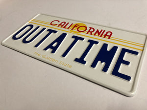 Back To The Future Movie Plate